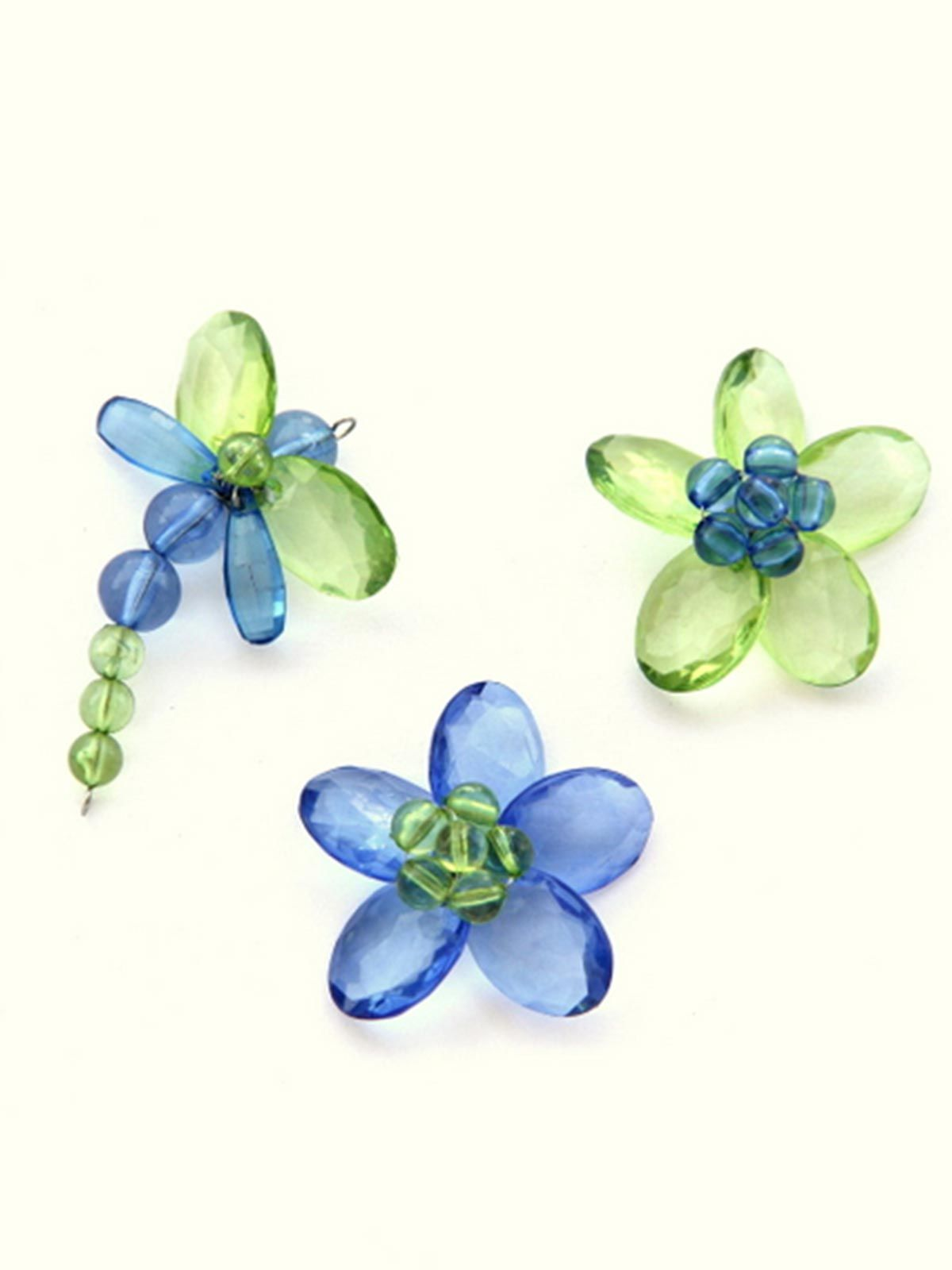 Quirky Fridge Magnets- Garden Blue