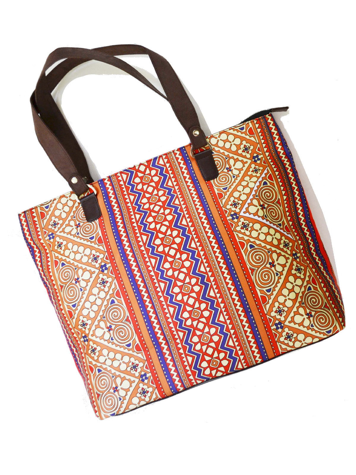 Border Printed Hand bag