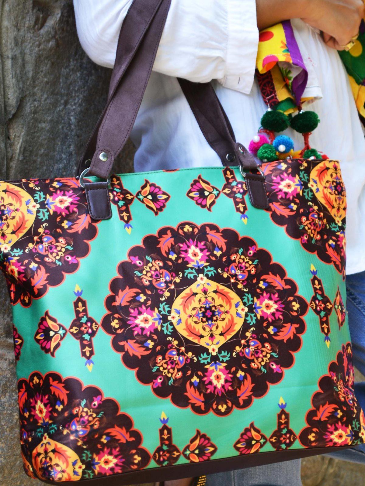 Oriental Printed handbag