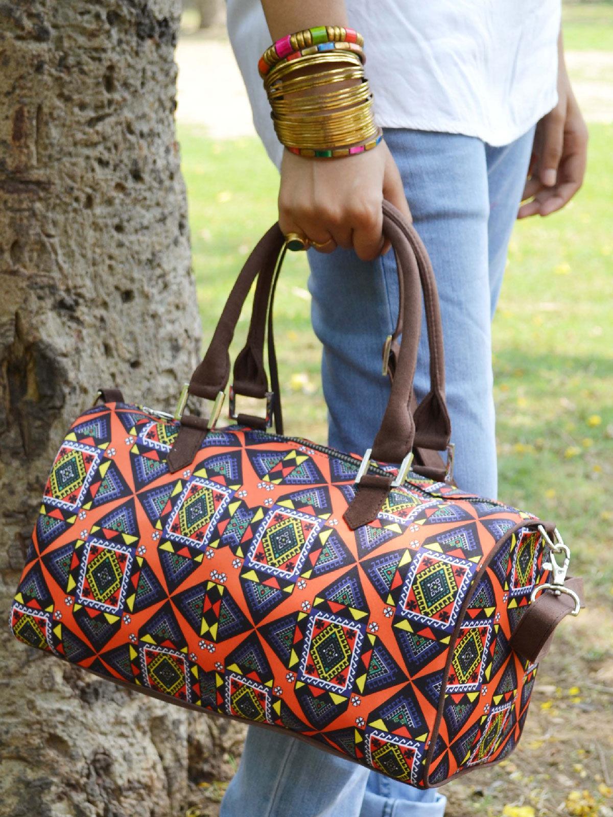 Kaleido Printed duffle bag