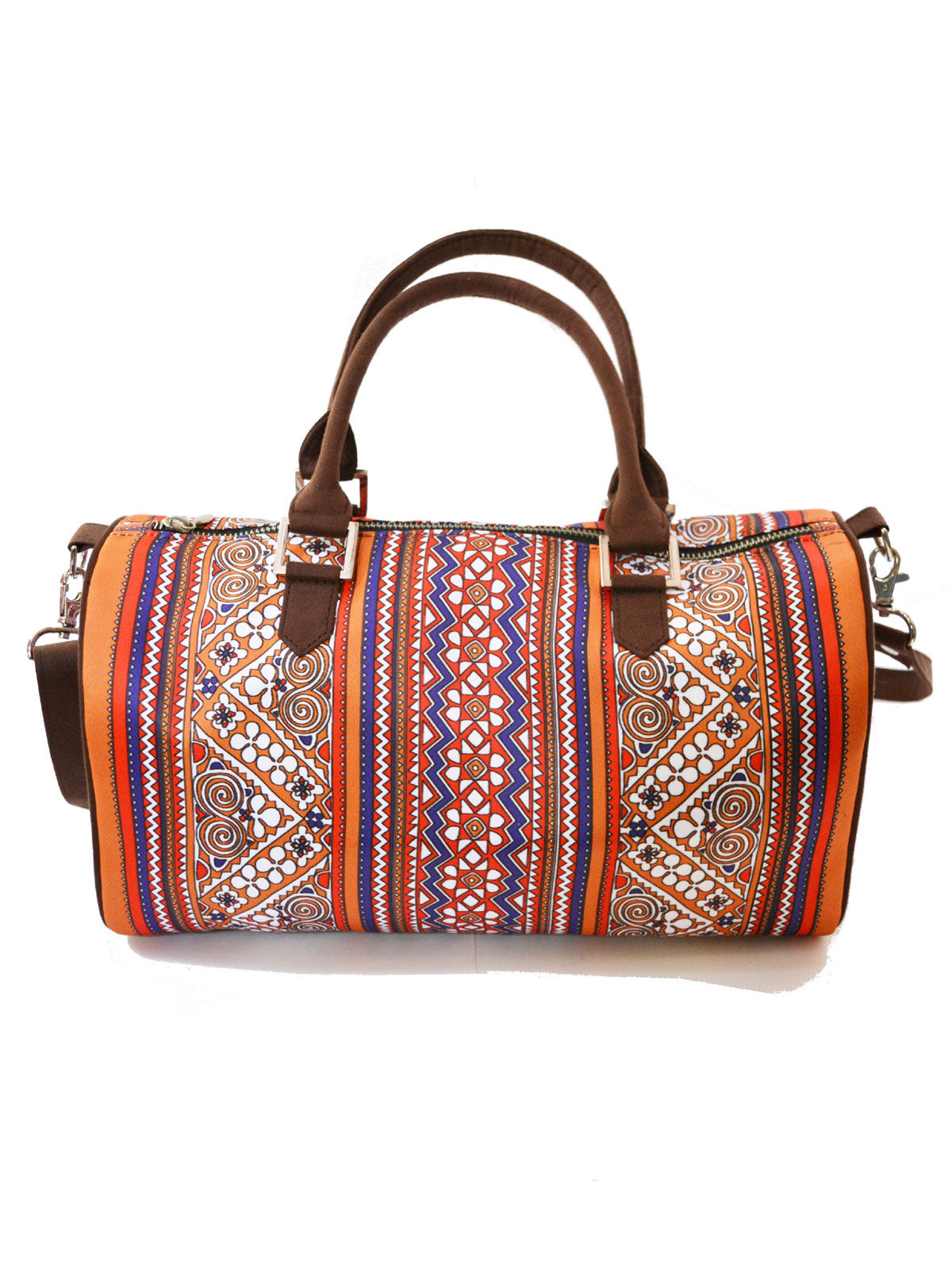 Border Printed duffle bag