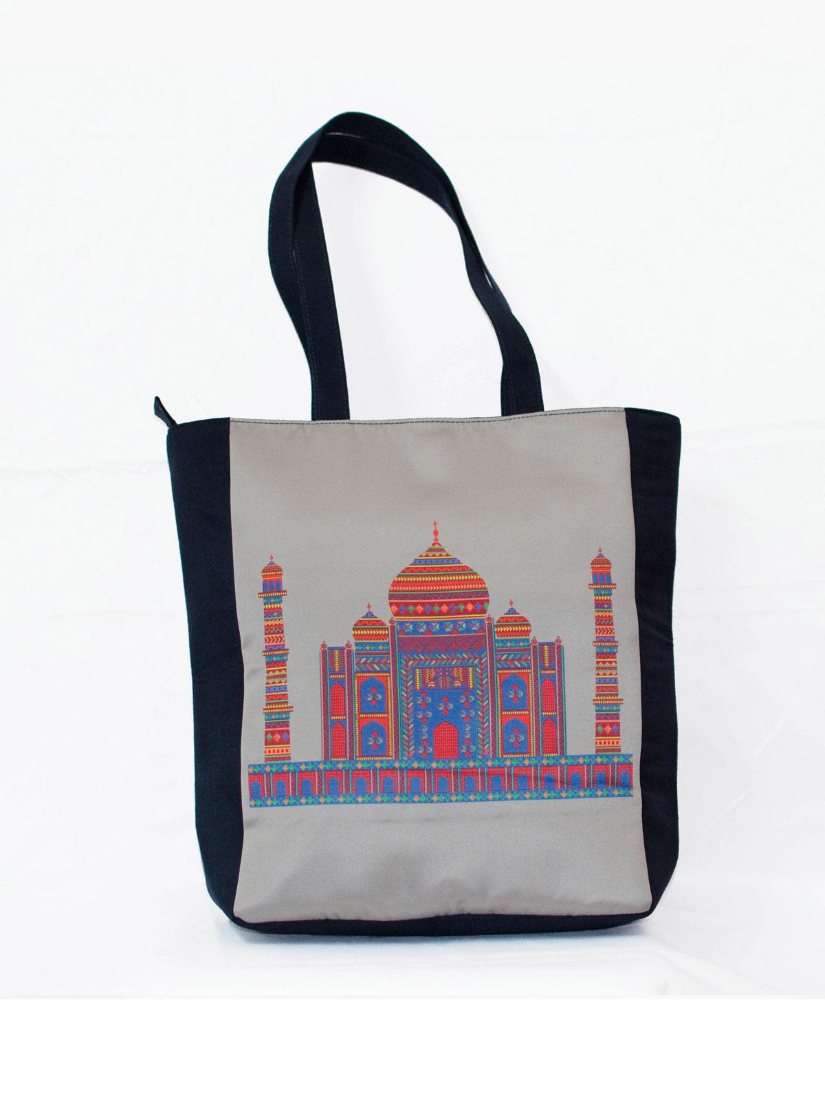 Grey Taj Printed Tote