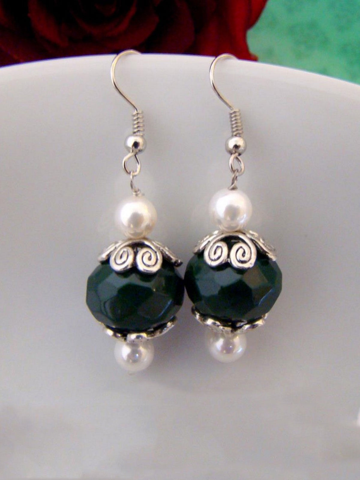 Green Dots earrings
