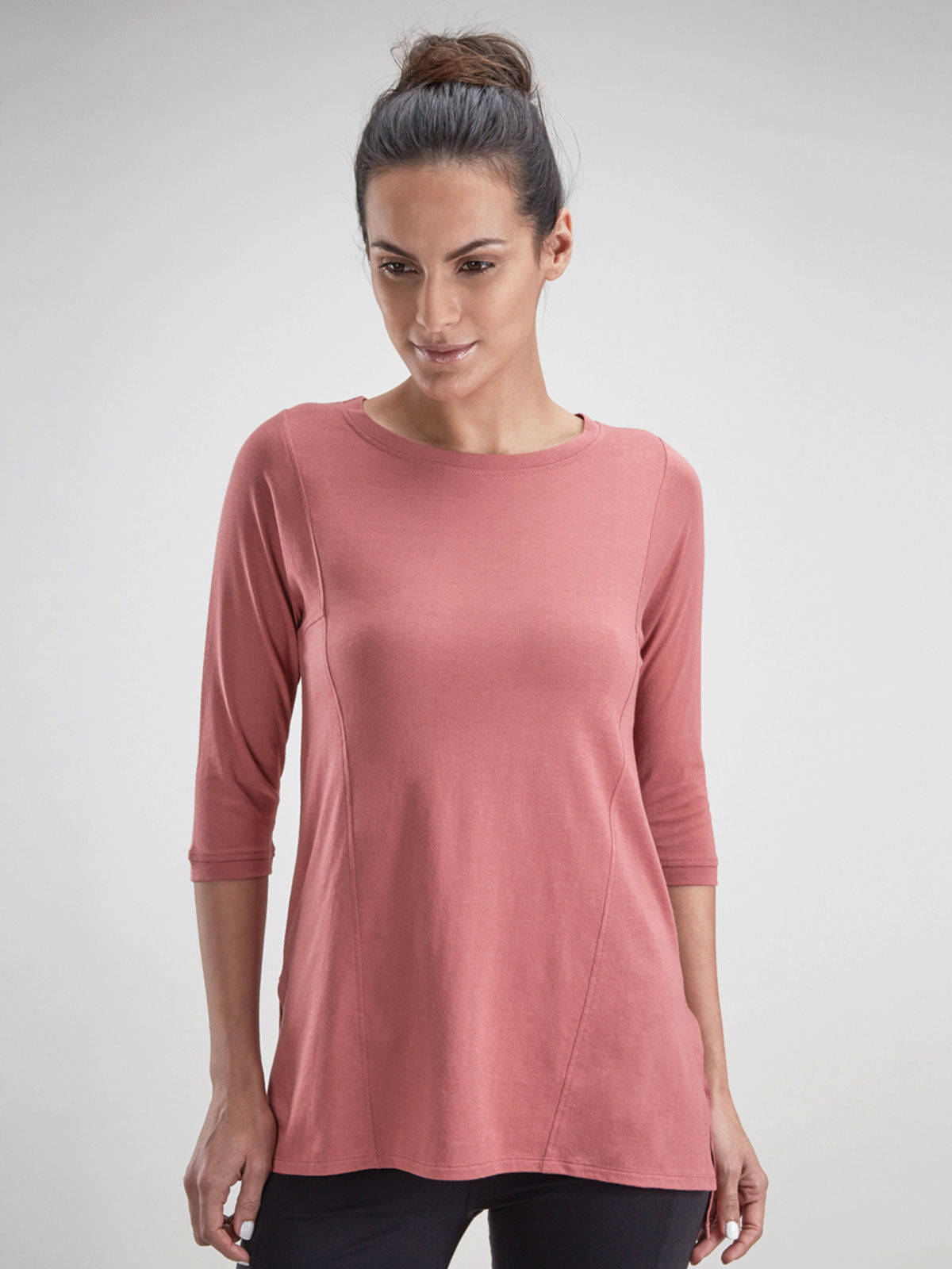 Peach Red Tunic Top