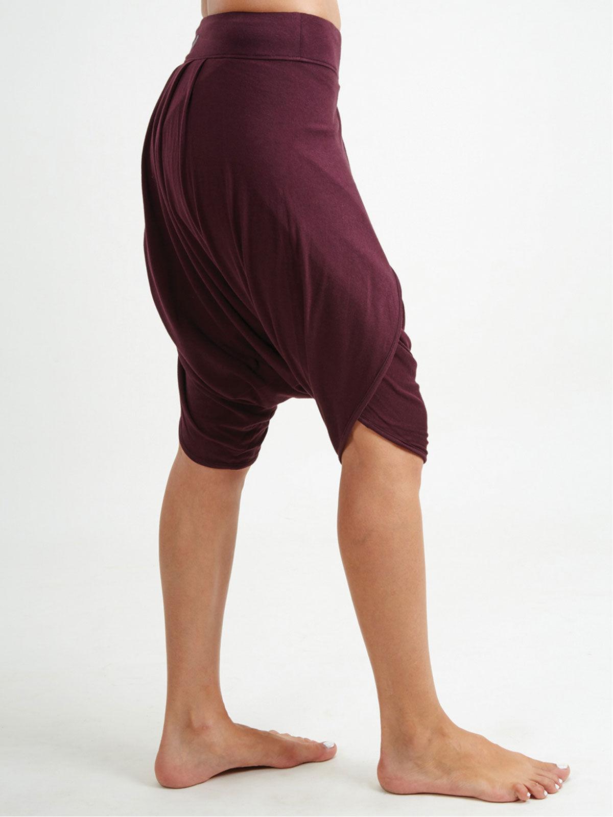 Maroon Dhoti Shorts
