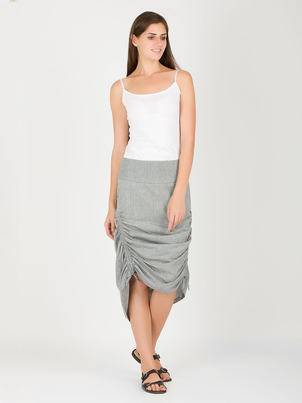 Grey khadi string skirt