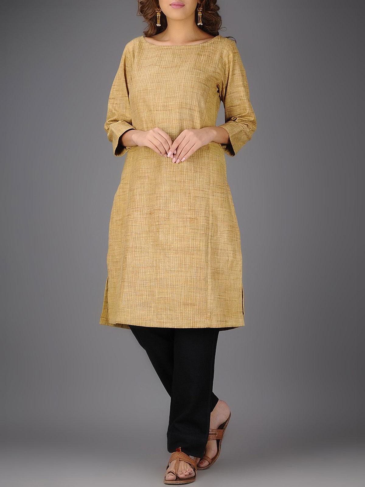 Matka silk kurta with stitch details