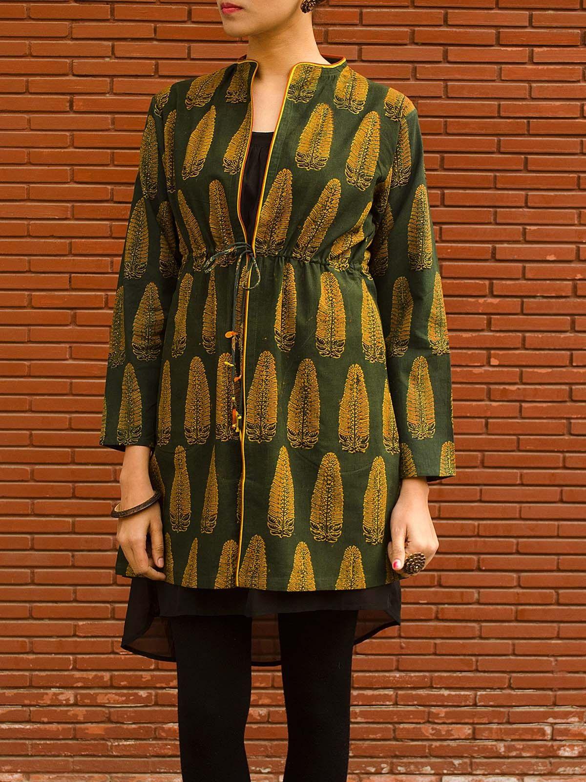 Jacket in Ajrak Cotton Print