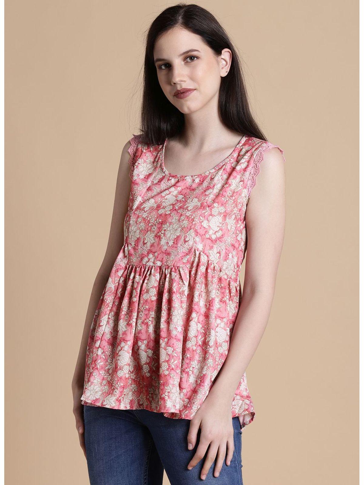 fc898f0ebcb92 Blush Pink Floral Top