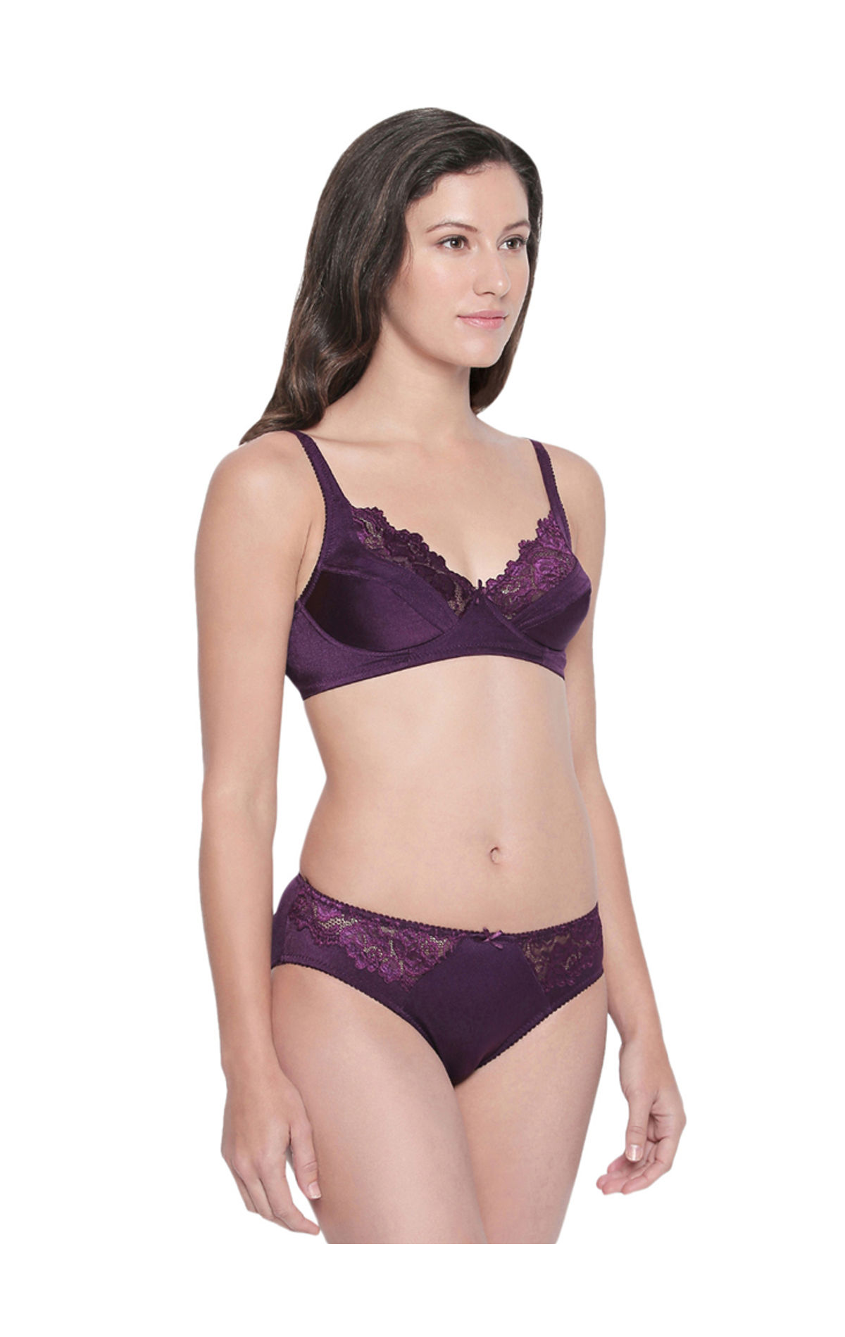 684d08326f2 ... BODYCARE Bridal Dark Purple Bra   Panty Lingerie Set - 6409DPU