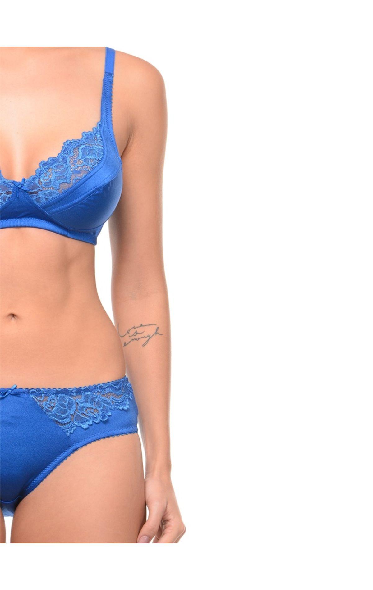 Bodycare Bridal Blue color Bra   Panty Set in Nylon Elastane-6409RBL 97c197153