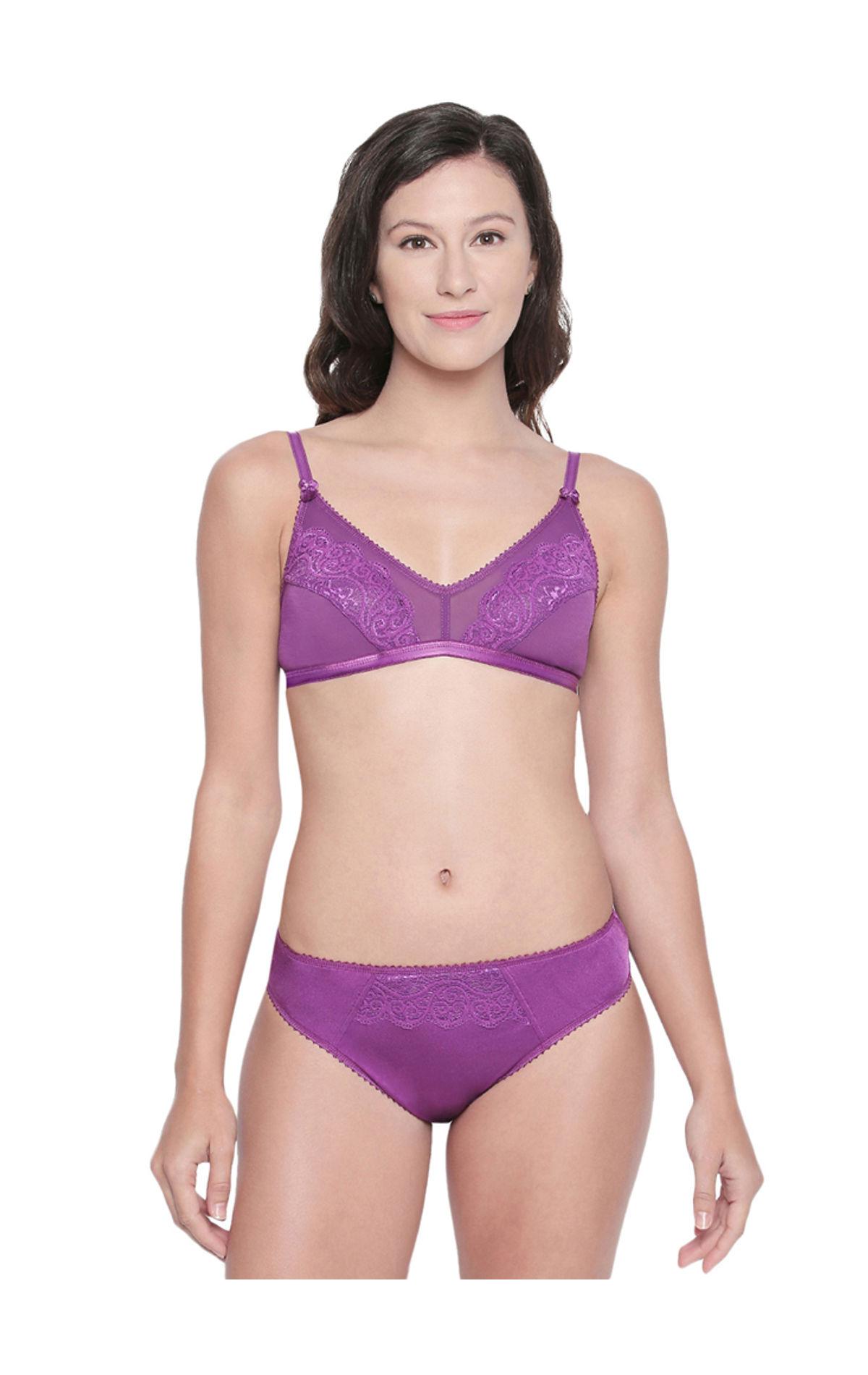 BODYCARE Bridal Dark Purple Bra   Panty Lingerie Set - 6416DPU 2caffabfb