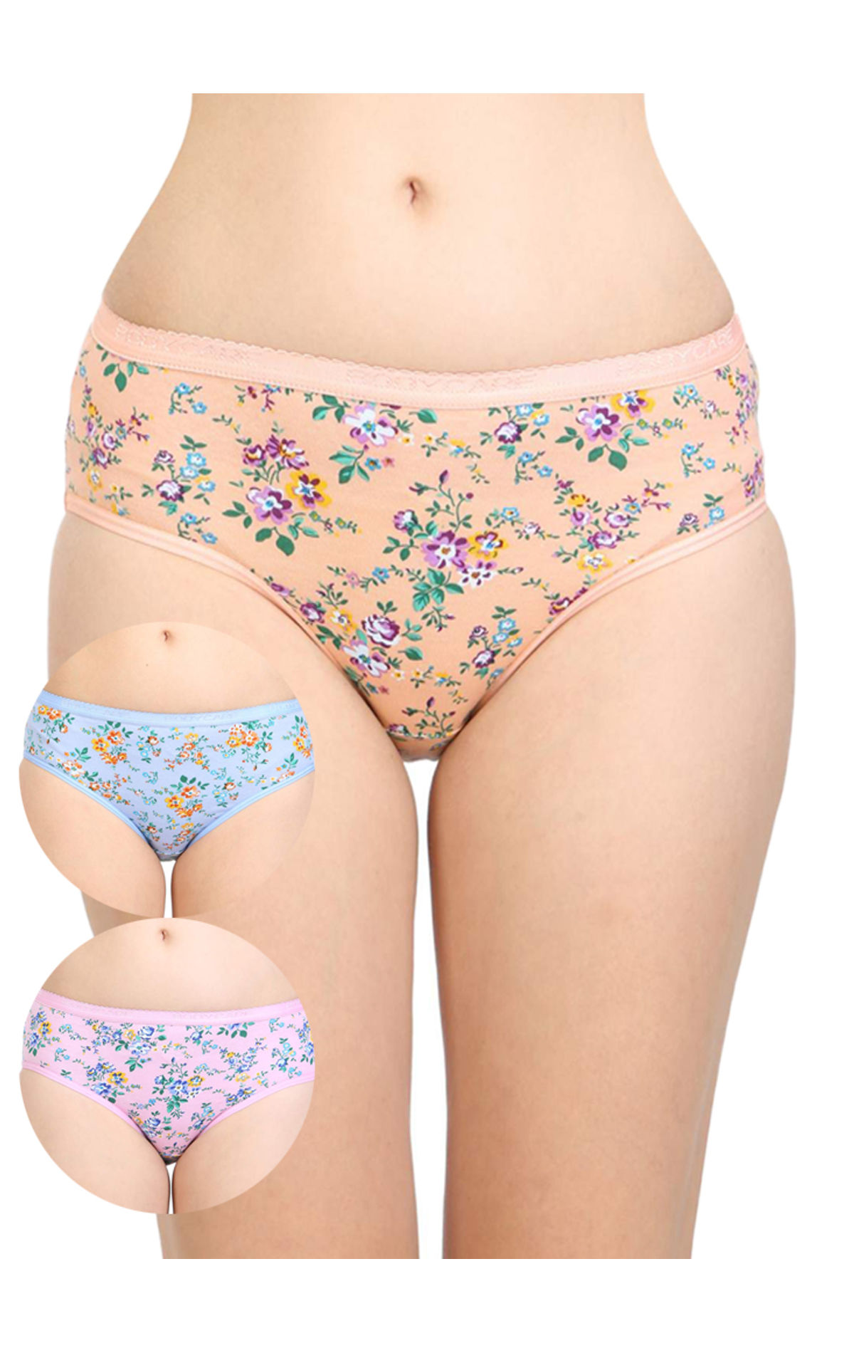 384dab20d97a ... Pack of 3 Bodycare Cotton Printed Premium Panties in Assorted colors