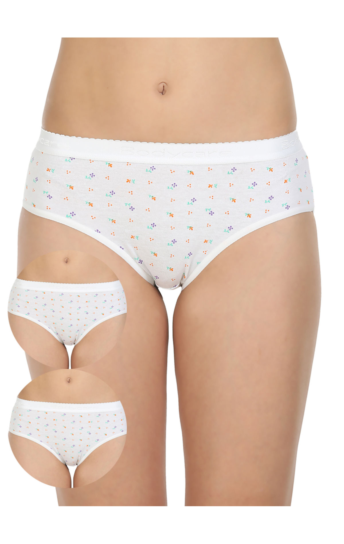 54f9af7359c9c sold-out-image Pack of 3 Printed Cotton Briefs in White color-14004