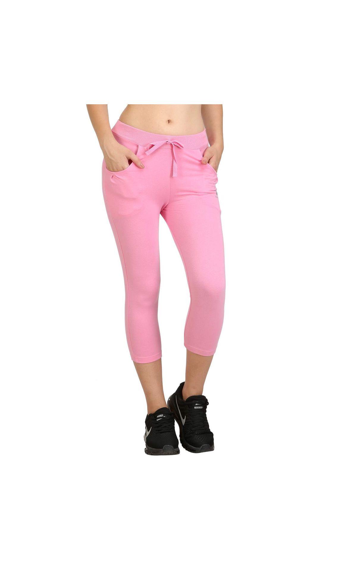 3e844345a715d Bodyactive Women Light Pink Capris-lc1-lpi | Lc1-lpi