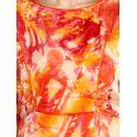 Aujjessa Yellow Coral Printed Maxi Dress