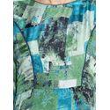Aujjessa Green Printed Maxi Dress