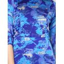 Aujjessa Blue Printed Maxi Dress