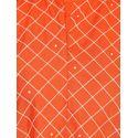 Aujjessa Orange Rayon A-Line Draping Kurta
