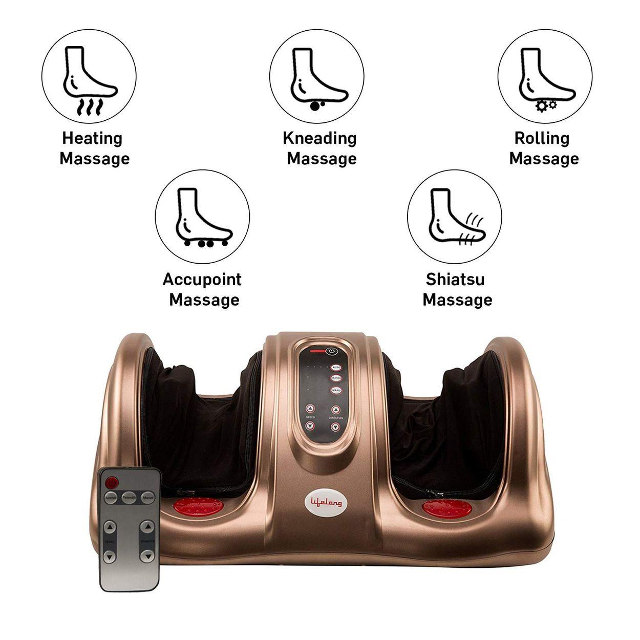 Lifelong LLM81 Foot Massager with Heat Warm Feature