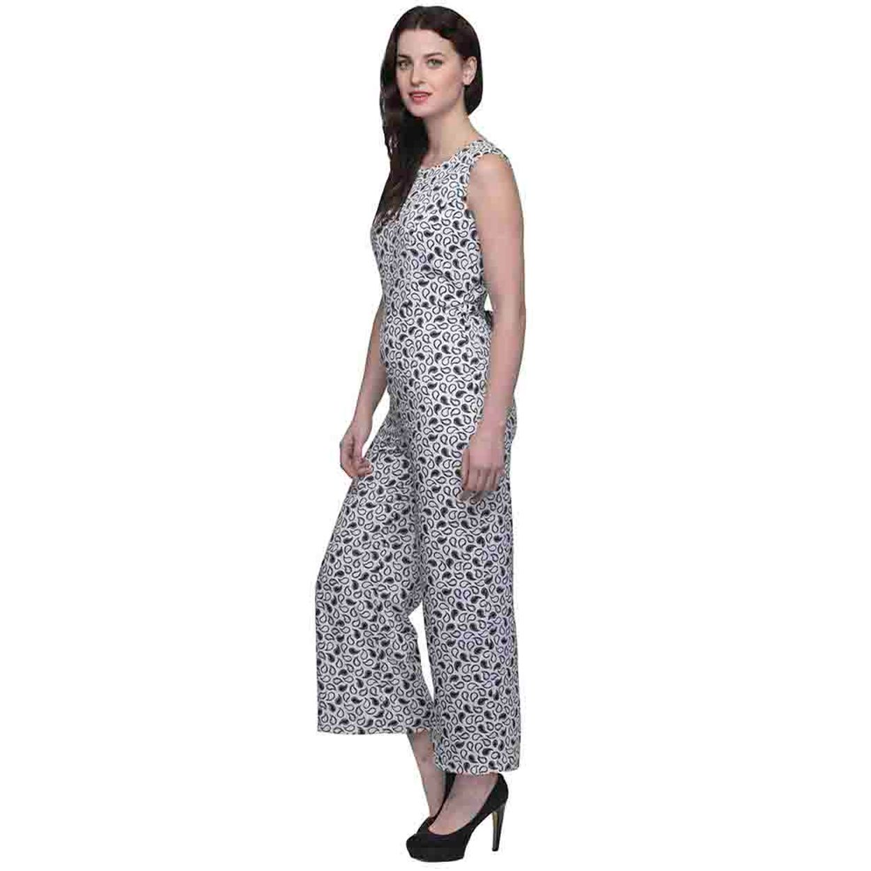 54bcae0a176 Buy Oxolloxo White And Black Printed Jumpsuit