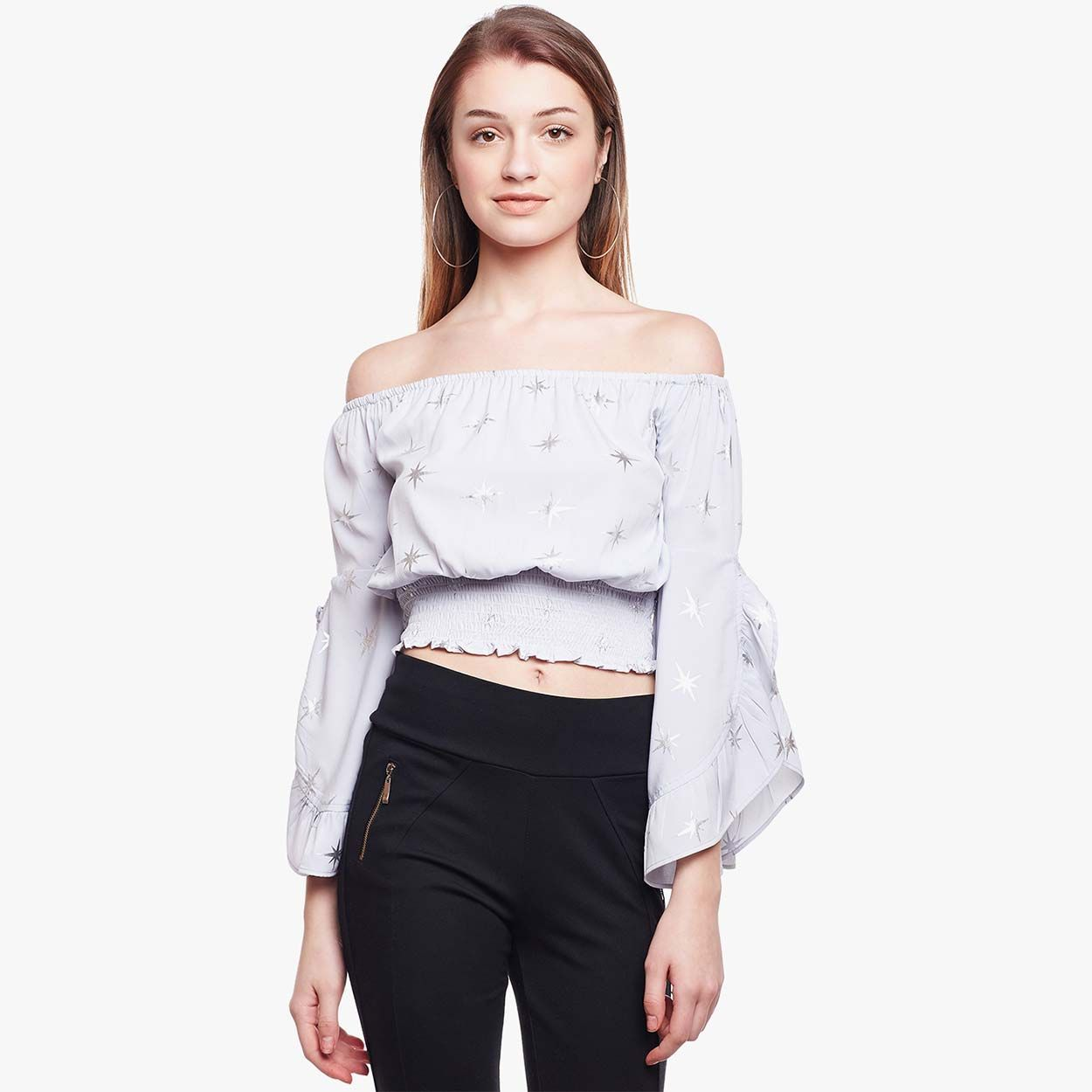 880166e490a2 Buy Oxolloxo Dusty Pink Spark Off Shoulder Top