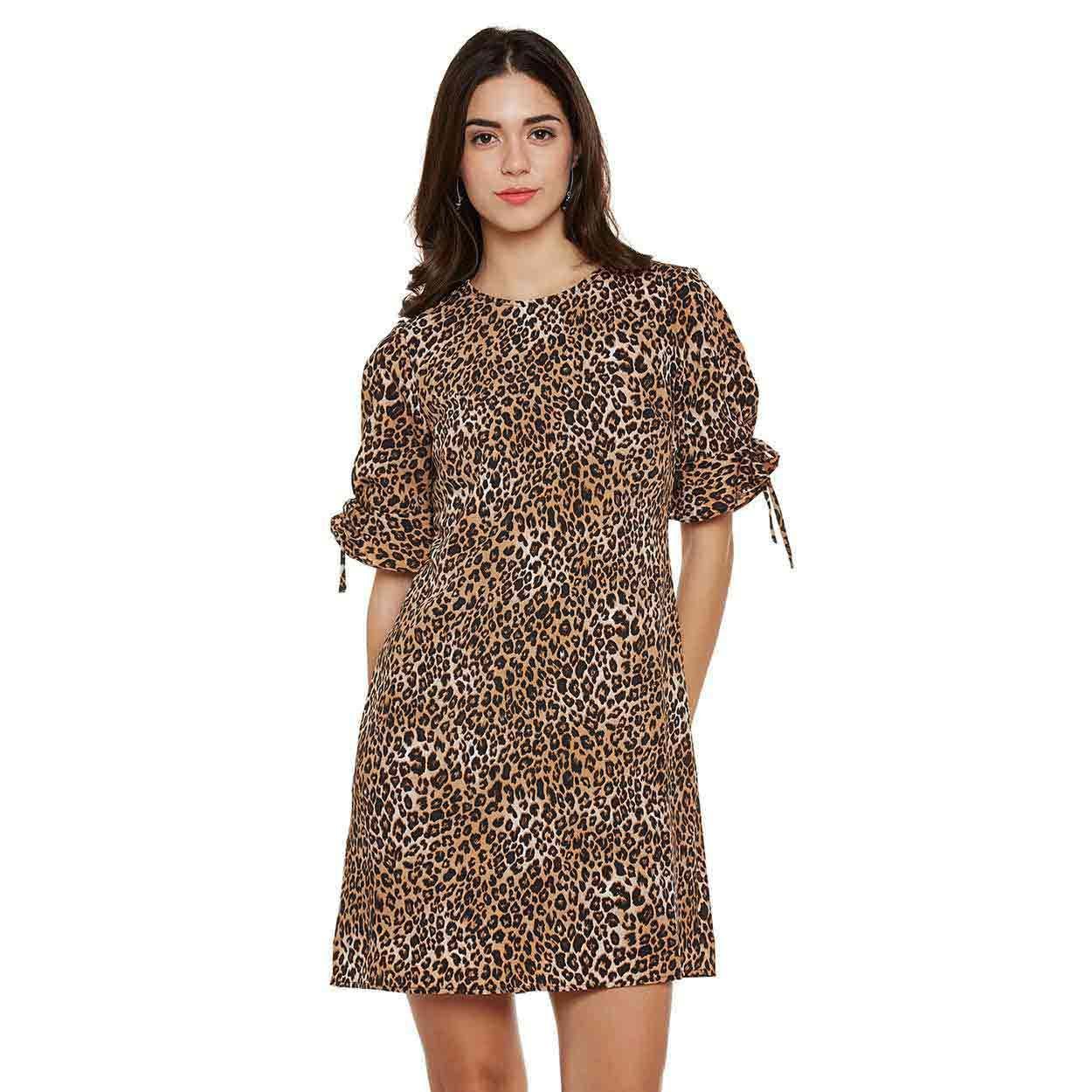 0dd3c597f5 Buy Oxolloxo Animal Print Shift Dress