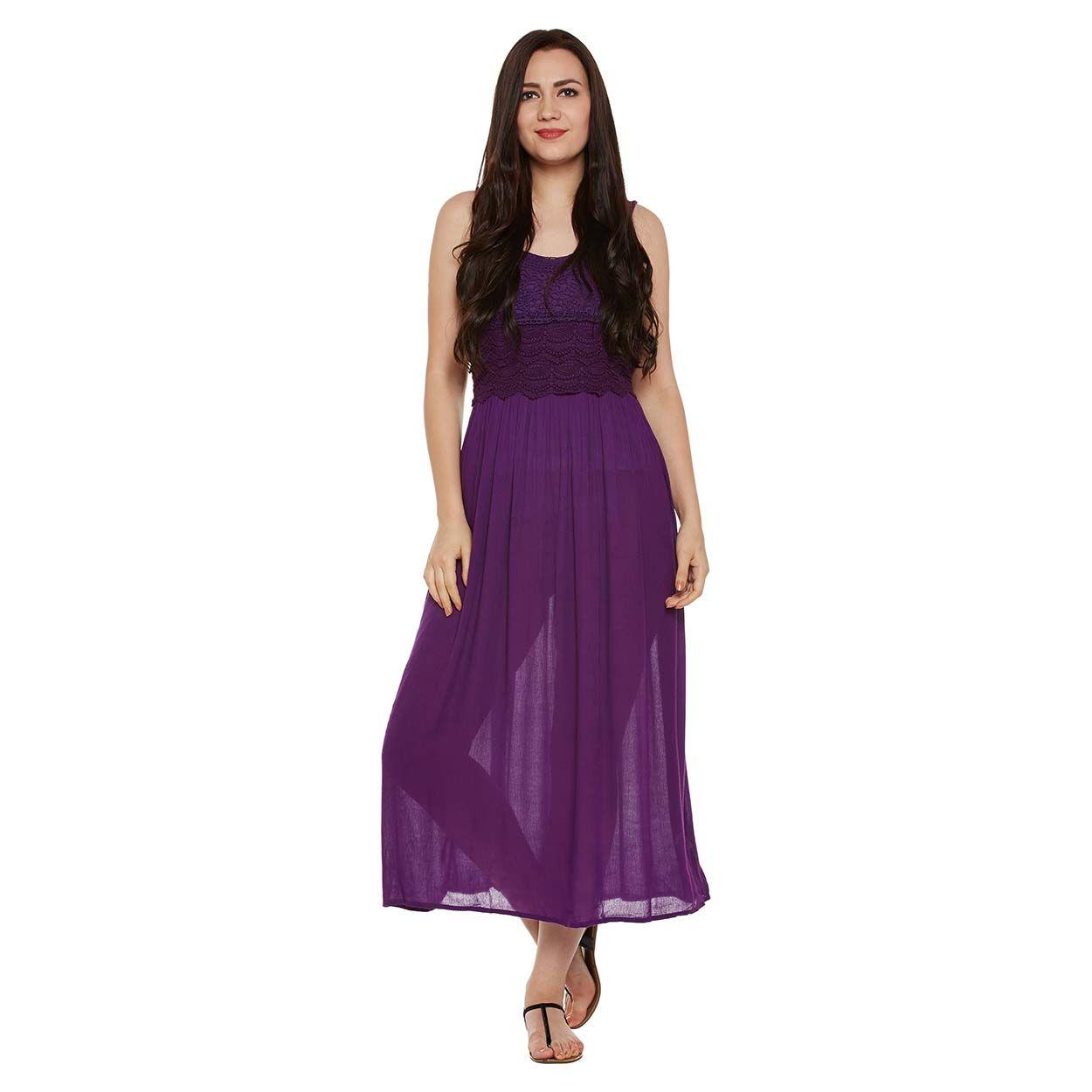 8ec9c644f8e6 Buy Oxolloxo Purple Lace Midi Dress