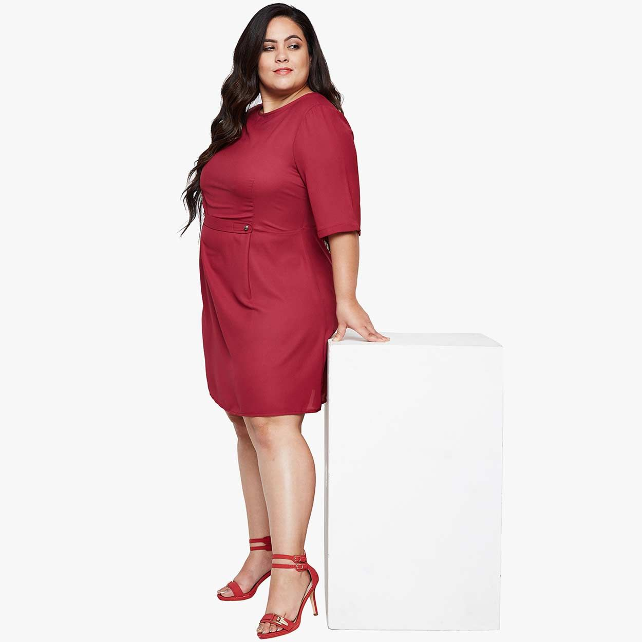 7629c34db Buy Oxolloxo Bold Hue Gori Curvy Skater Plus Dress