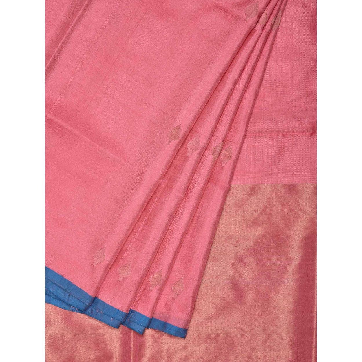 e928677dc9 Baby Pink Color Sari | Uppada Silk Handloom Saree u1508