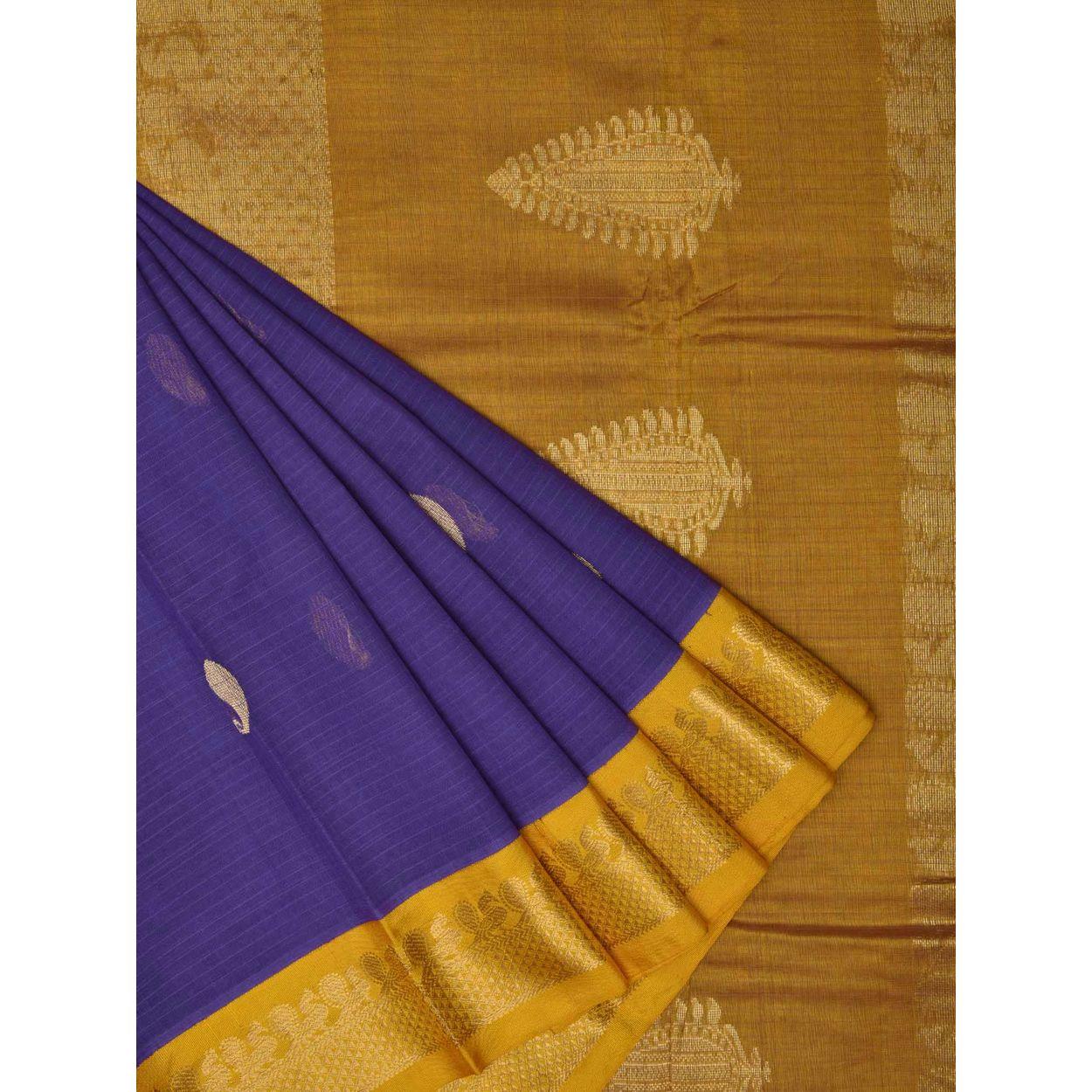 714455bef4e793 Lavender Color Sari | Gadwal Cotton Handloom Saree g0191