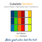 Cubelelo 3x3 56mm Gans Stickers