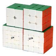 QiYi Combo Set of  2x2 3x3 4x4 5x5 Stickerless
