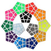 Cubicle Megaminx Bright Sticker Set 32mm-DaYan