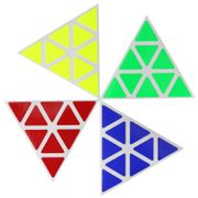 Cubicle Pyraminx Half Bright Sticker Set 98mm-MoYu