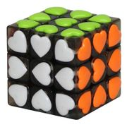 YJ Heart Shape 3x3 Tiled Black