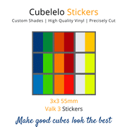 Cubelelo 3x3 55mm Valk 3 Stickers