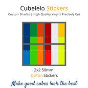 Cubelelo 2x2 50mm MoYu Guoguan XinGhen 2x2 Stickers