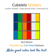 Cubelelo 3x3 56mm Thunderclap v2 Full Fitted Stickers