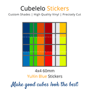 Cubelelo 4x4 60mm YuXin Blue Stickers