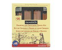 General's Drawing & Sketching Pencil Set - Art Set of 21 Pieces
