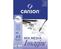 Canson Imagine 200 GSM A5 Pad of 50 Light Grain Sheets