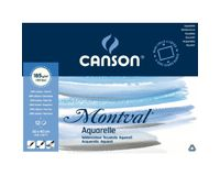 Canson Montval 185 GSM 30 x 40 cm 4 Side Glued Pad of 12 Fine Grain Sheets