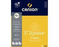 Canson C a' grain 125 GSM 32 x 41 cm Album of 30 Fine Grain Sheets