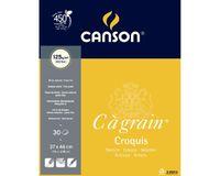 Canson C a' grain 125 GSM 37 x 46 cm Album of 30 Fine Grain Sheets