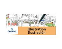 Canson Illustration 250 GSM A4 Pad of 12 Smooth Grain Sheets