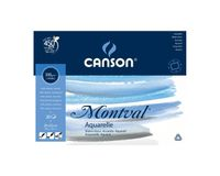 Canson Montval 300 GSM 24 x 32 cm 4 Side Glued Pad of 20 Fine Grain Sheets
