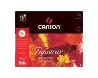 Canson Figueras 290 GSM 38 x 46 cm 4 Side Glued Pad of 10 Canvas Grain Sheets