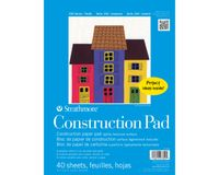 Strathmore 100 Series Construction 9''x12'' 8 Assorted Shades Light Grain Paper, Short-Side Tape Bound Pad of 40 Sheets