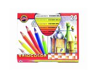 Koh-I-Noor Triocolor Artist's Quality Coloured Pencils - Set of 24 Assorted Colours